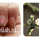 Bride and flower naisl, birde and flower ring