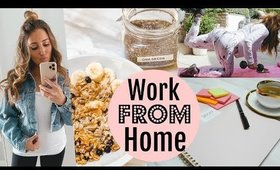 MY WORK FROM HOME ROUTINE// HOW TO BE PRODUCTIVE!