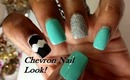 Chevron Nails for Spring