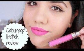 Colour Pop Ultra Matte Lipstick Review
