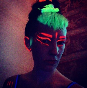 my make up from tonight's gig in La Spezia, Italy