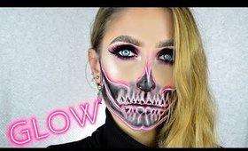 Pink Neon Skull ♡ Halloween 2017 Makeup Tutorial