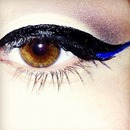 black and blue wing liner