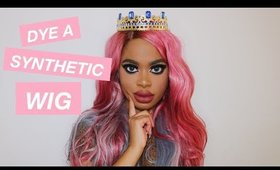 How to Dye a Synthetic Wig (TUTORIAL) | Audrey Descendants 3