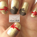 Lindt Chocolate Bunny Nail Art