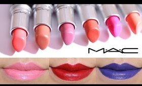 MAC Lipstick Lip Swatches 17 shades