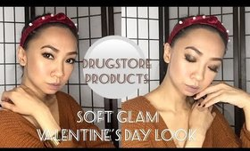 Soft glam Valentine's Day look | drugstore products.