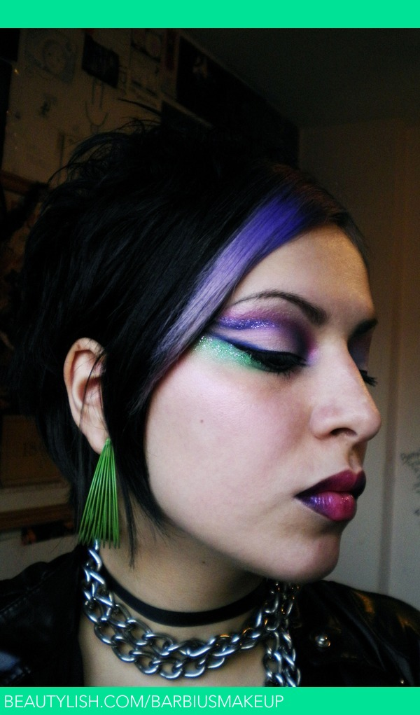 80 S Glam Rock Look Barbius M S Barbiusmakeup Photo