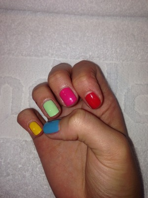 Using opi colours with base a top coat