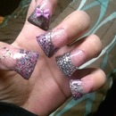 Duck Feet Glitter Nails