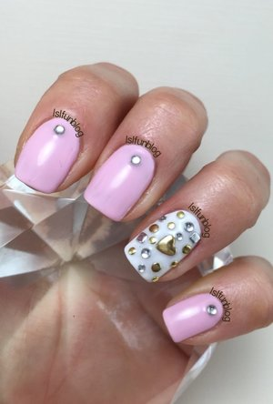 I applied the studs using Gelish Base coat and the Melody Susie 12 W LED lamp