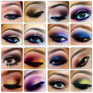 Just a collage of some looks I did