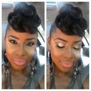 No filter.....easy weekend makeup