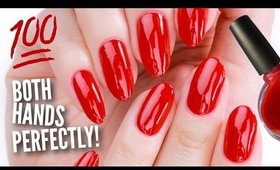 Paint Your OTHER Hand's Nails Perfectly!