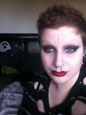 Couldn't be bothered to do my eyebrows today...