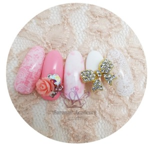 Lovely pink lace nail ♥