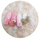 [Saranail] Lovely ribbon pats/ new nail arts/ recommended nail arts/valentine nail arts