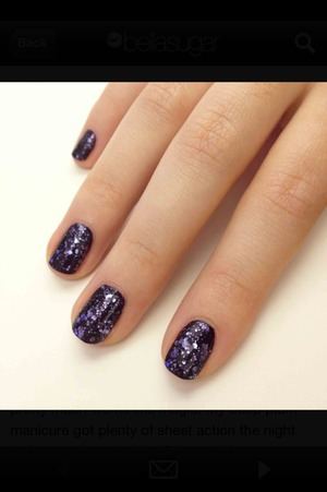 Gorgeous black polish with glitter on top.