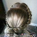 Dutch Braid Crossover Bun