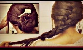 ★ HOW TO: FRENCH BRAID YOUR OWN HAIR TUTORIAL| ROMANTIC UPDO BUN/CHIGNON FOR MEDIUM LONG HAIR