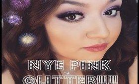 NYE Pink Glitter Makeup| JulieMacias
