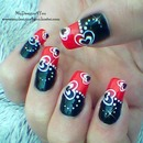 Black and Red Valentine's Day Nails