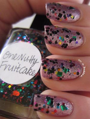 Lynn One Nutty Fruitcake over Models Own Mystic Mauve @gemsinabottle