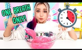 Making Slime In ONE BREATH!