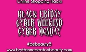 Online Shopping Tips & Tricks for Black Friday- Cyber Weekend- Cyber Monday