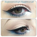 Simple Cat Eye with blue