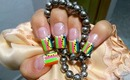 Multicolored French Nail Art Design Tutorial - ♥ MyDesigns4You ♥
