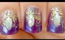 Fantasy Falling Glitter Nails ~ Easy Tutorial for short nails