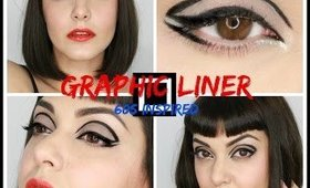 Graphic Liner 60s inspired