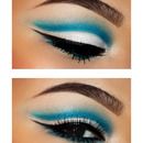 Sky Blue Cut Crease