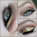 Gold cut-crease