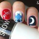 Stitch nail art.