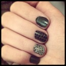 shiny green dotted