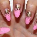 KKN Basics: Reverse Glitter Gradient Nail Design 2