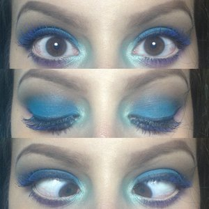 really fun makeup look inspired by Angela from batalash beauty. :) blue mascara is the best! follow me on Instagram too see more makeup @beautybygizelle or check out my new blog! whoisgizellemarie.blogspot.com