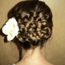 Twisting Dutch Braid Updo