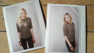 Some polaroids from the shoot with Christina at Ford Models... Photographer Marcus Hyde, hair & makeup Kelley Farlow