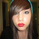 Red sprinkle lips