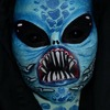 Blue Alien Facepaint + Scleras