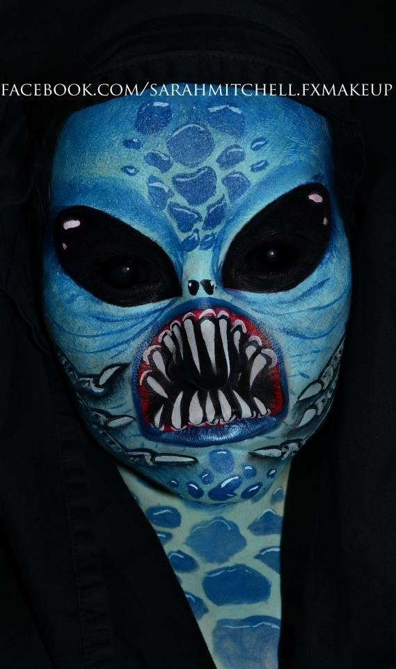 blue alien facepaint   scleras