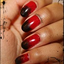 Grungy red and black gradient 1