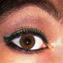 Black & Green Eyeliner