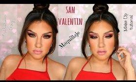 Maquillaje en ROJO  VINO con BRILLOs de San Valentin | auroramakeup