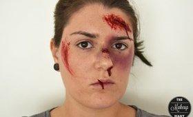Halloween Tutorial: Beaten Up