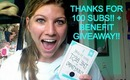A HUGE Thank You!! + Benefit Giveaway!! ♡♡