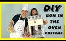Halloween DIY Couples Pregnancy Costume: BUN IN THE OVEN!